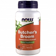 Now Foods  BUTCHER'S BROOM 100 KAPS.