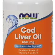 COD LIVER OIL-650mg -Now Foods - Tran 250 kaps.