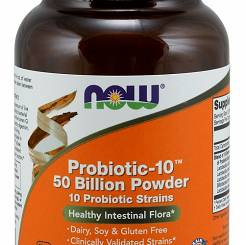 Probiotic-10, 50 Billion Powder - 57g NOW Foods