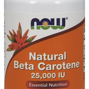 Beta Carotene Natural, 25 000 IU - 90 kaps.