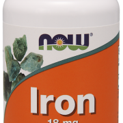 IRON -18mg -Now Foods-120 kaps