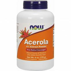 Acerola w proszku-4:1 Extract -170 g-Now Foods