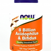 ACIDOPHILUS & BIFIDUS 120kaps-Now Foods