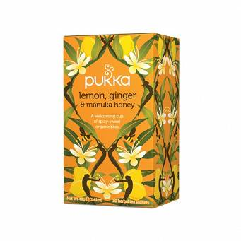 Pukka HerbataLemon,  Ginger  &  Manuka  honey