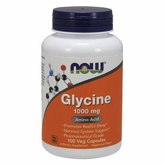 Glycine, 1000mg  Now Foods 100kaps.