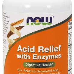 Acid Relief with Enzymes Now Foods- 60 tab do żucia