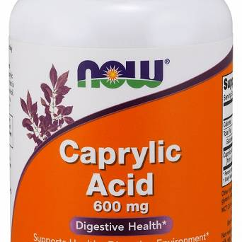 Caprylic Acid, 600mg - 100 kaps.