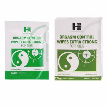 Orgasm Control Wipes 6 szt.