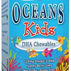 Oceans Kids DHA Chewables Omega-3, Berry Lime - 120 chewable  kaps.